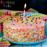 Eggless Vanilla Birthday Cake Recipe