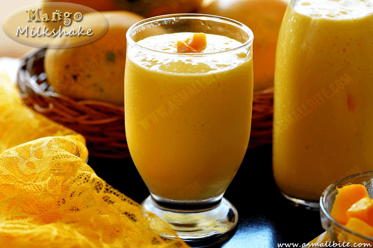 Fresh Mango Milkshake 1