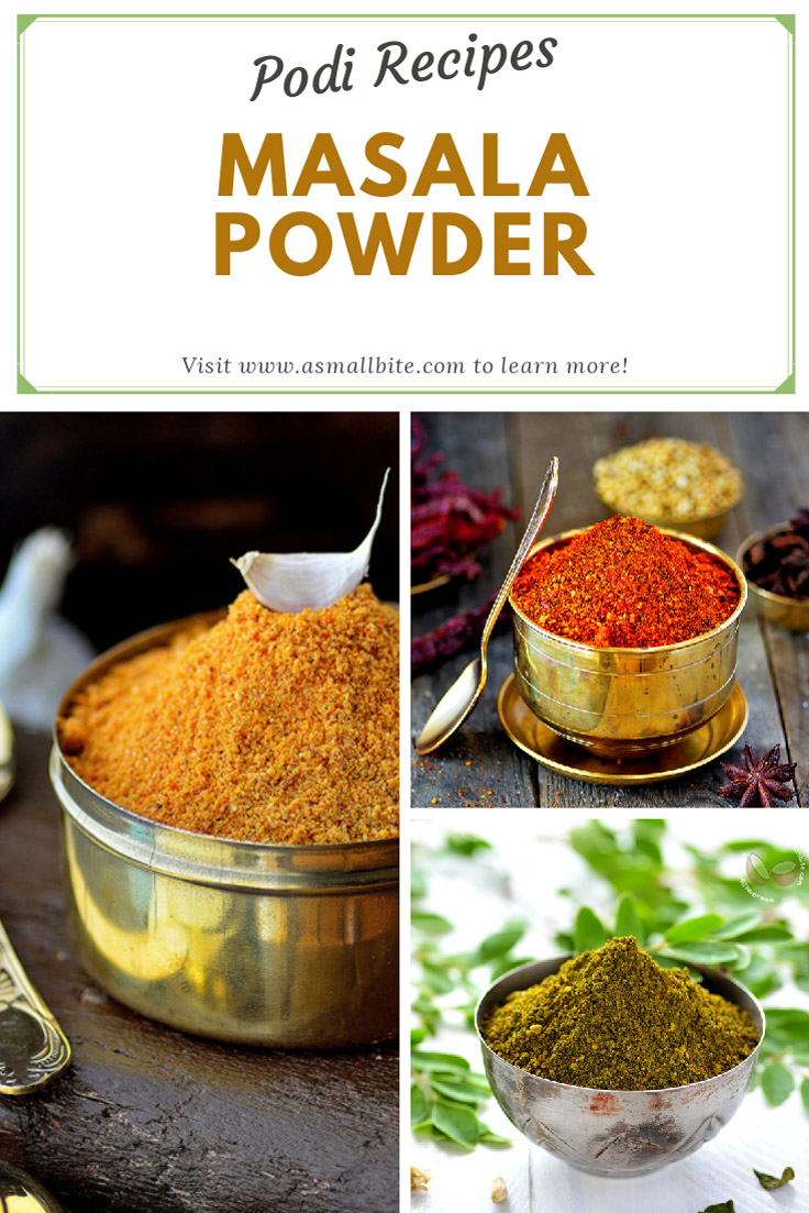 Masala Powder / Podi Recipes