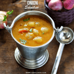 Onion Sambar Recipe | Vengaya Sambar Recipe