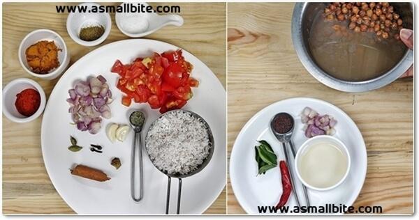 kadala curry with coconut Steps1