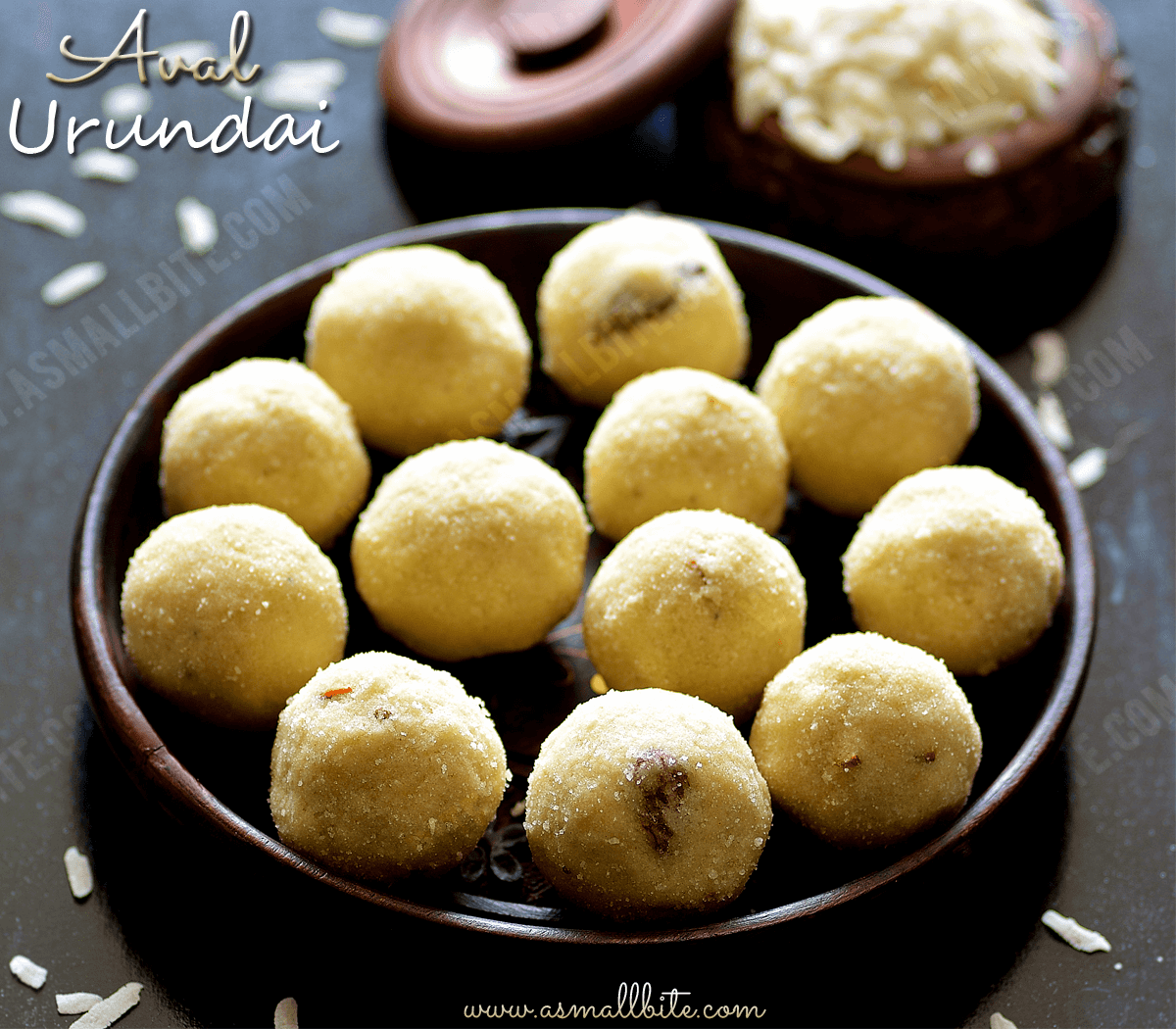 Aval Urundai Recipe