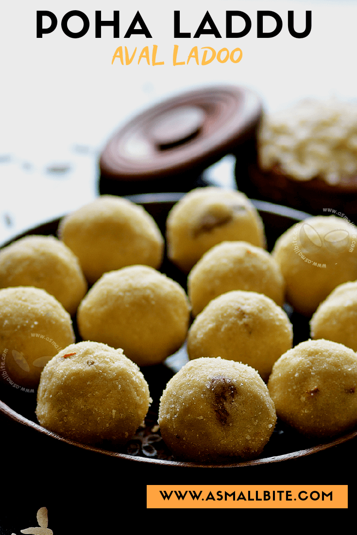 Poha Laddu Recipe Pinned