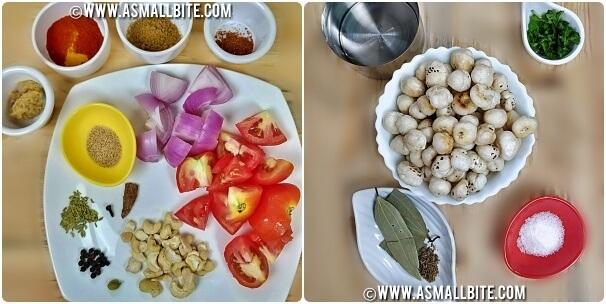 Makhane ki sabji Recipe Steps1