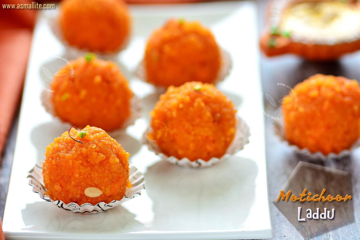 Motichoor Laddu Recipe 1