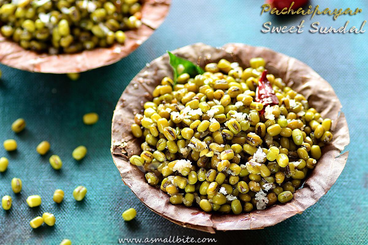 Pachaipayar Sweet Sundal Recipe