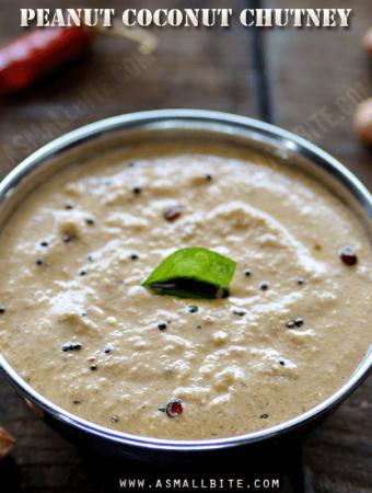 Peanut Coconut Chutney Recipe