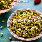 Green Gram Sundal Recipe | Sweet Pachai Payaru Sundal