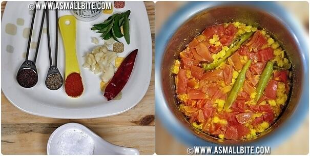 Telegana Tomato Pappu Recipe Steps2
