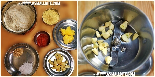 Garlic Chakli Recipe Steps1