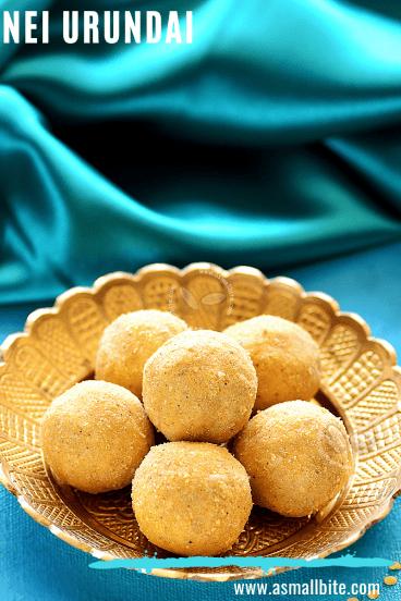 Nei Urundai Diwali Sweets in Tamil