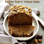 Eggless Dates Walnut Cake Recipe