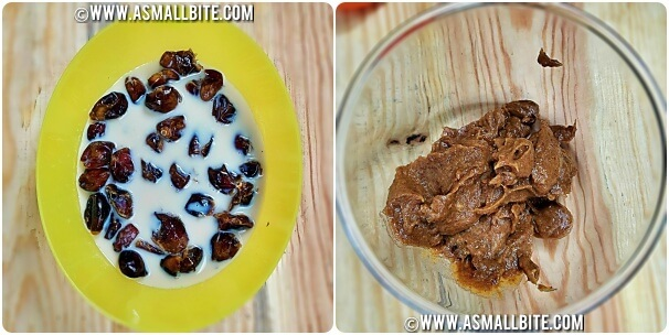 Eggless Dates Walnut Cake Recipe Steps2
