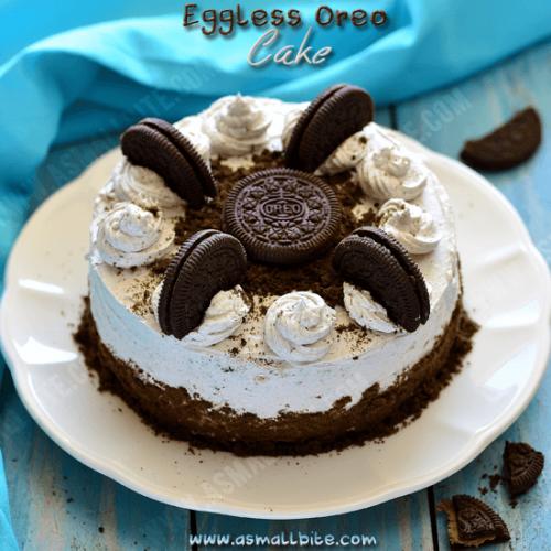Enjoyable Oreo Cake Recipe Eggless Oreo Biscuit Cake Recipe Asmallbite Funny Birthday Cards Online Overcheapnameinfo