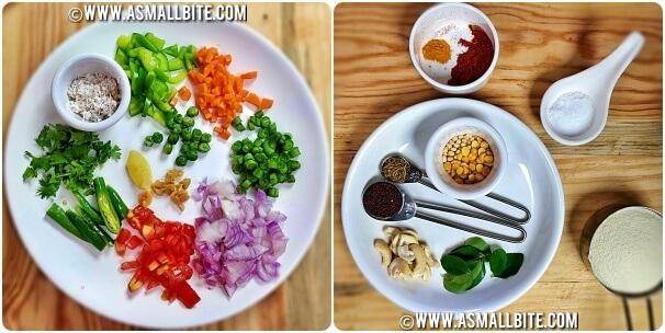 Khara bath recipe Steps1