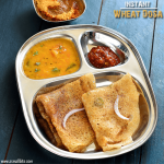 Instant Wheat Dosa Recipe | Godhuma Dosa Recipe