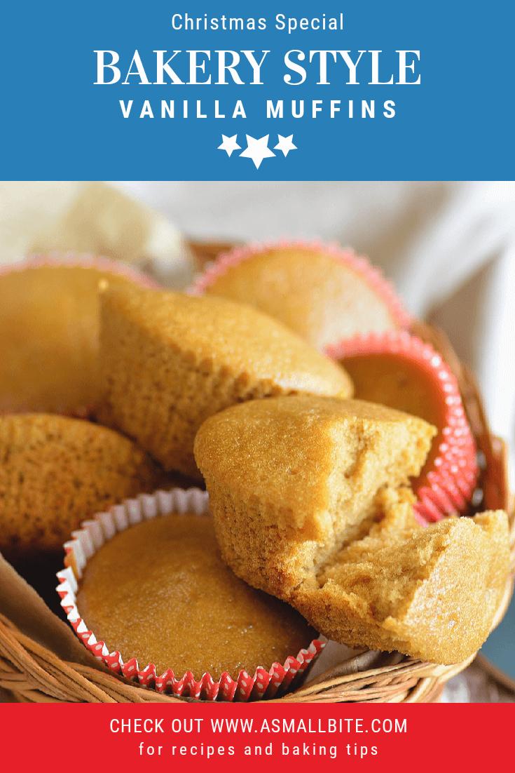 Bakery Style Vanilla Muffins