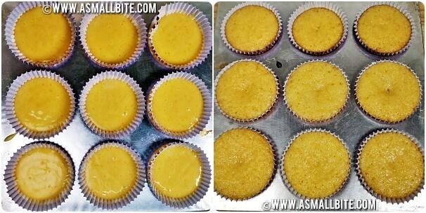 Eggless Orange CupCakes Steps6