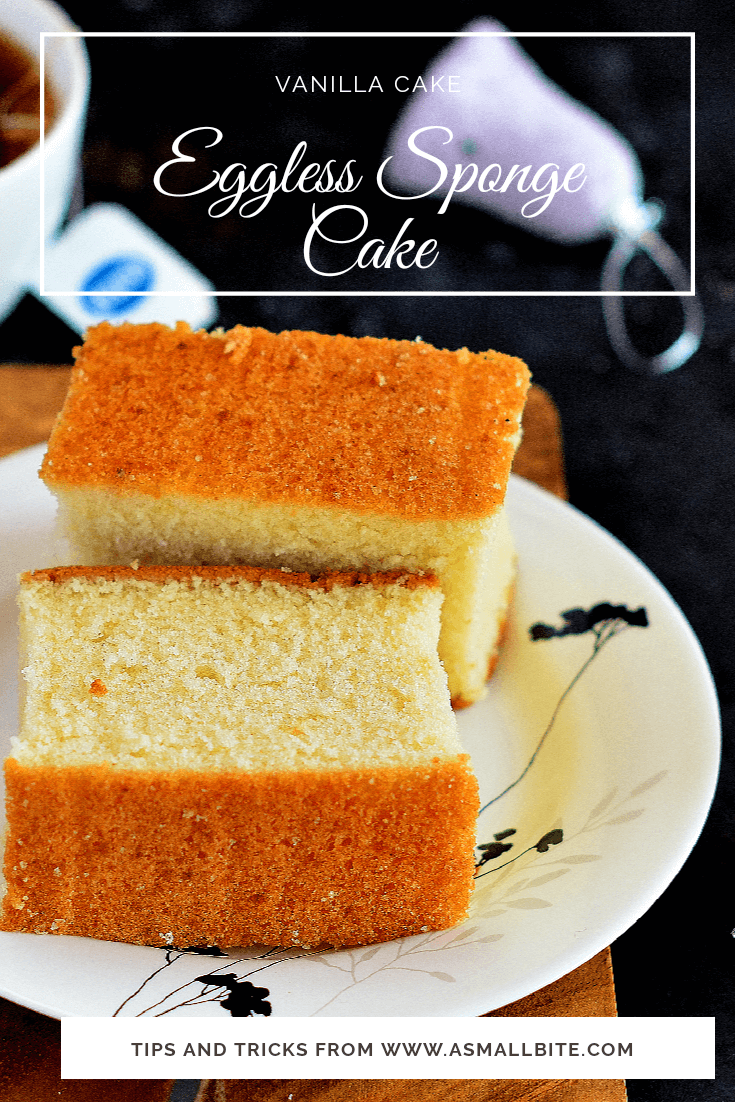 Eggless Sponge Cake Recipe