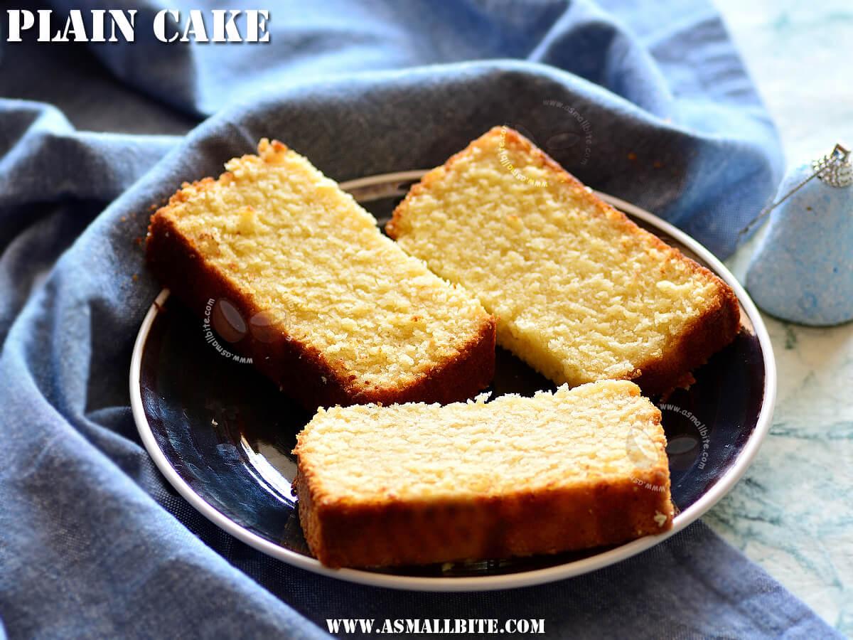 Plain Cake Recipe