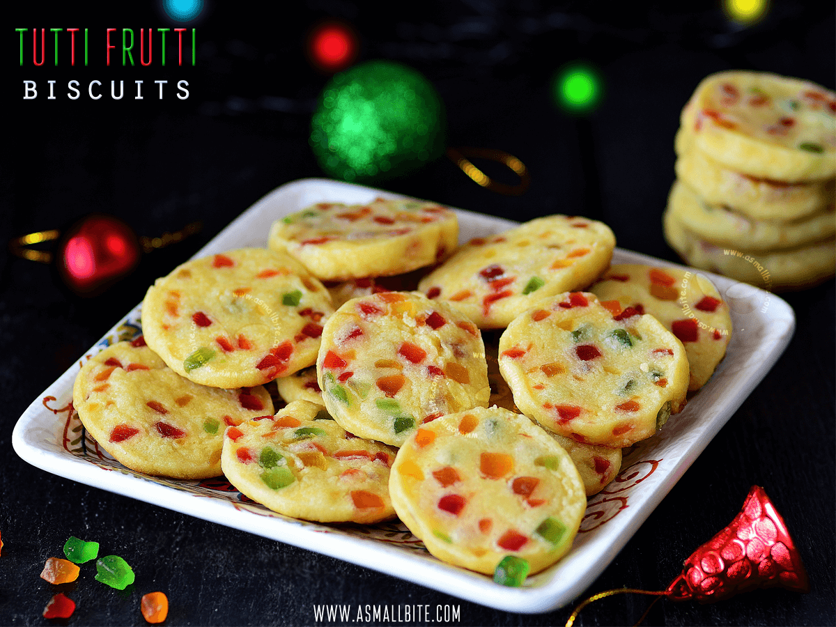 Tutti Frutti Biscuits Recipe