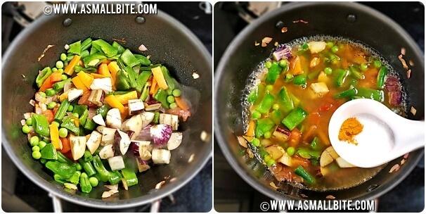 Brahmin Vegetable Kootu Recipe Steps4