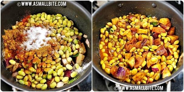 Mochaikottai Kathirikai Curry Steps7