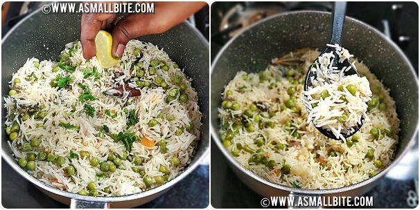 Peas Pulao Recipe Steps7