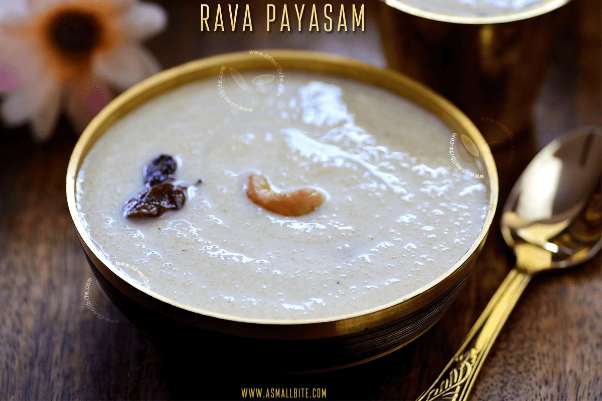 Rava Payasam Recipe