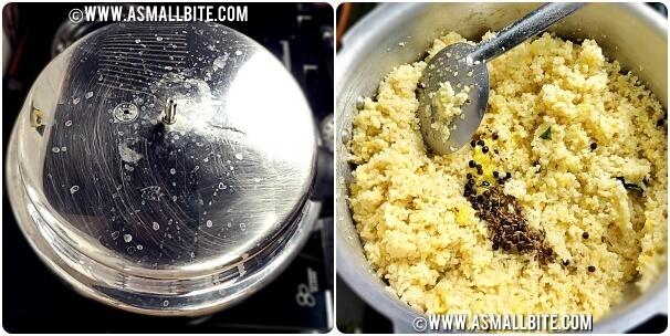 Rava Pongal Calories Steps6