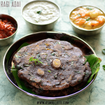 Ragi Adai Recipe | Kelvaragu Adai Recipe