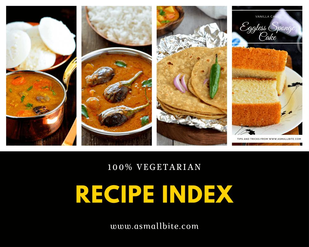 Asmallbite Recipe Index