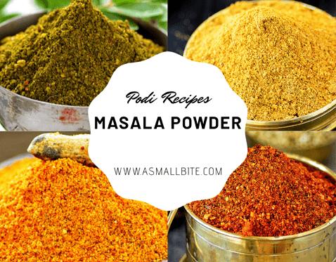 Masala Powder / Podi Recipes