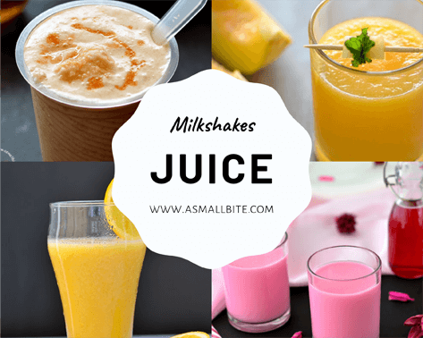 Juice Milkshakes Recipes
