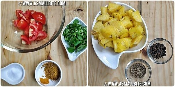 Pineapple Rasam Iyengar Style Steps1