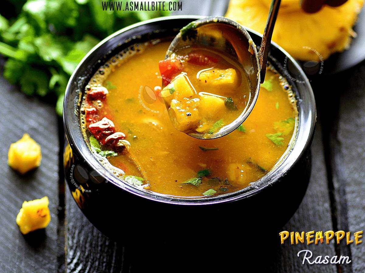 Pineapple Rasam Iyengar Style