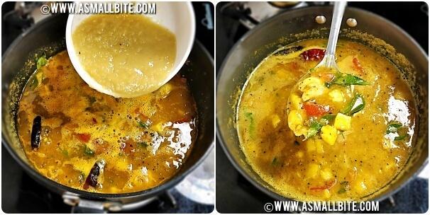 Pineapple Rasam in Tamil Steps9
