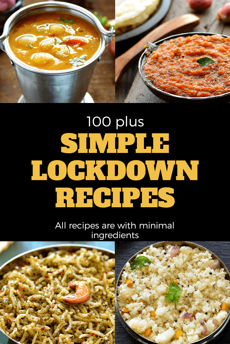 Lockdown Recipes Indian