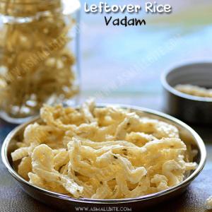 Leftover Rice Vadam Recipe