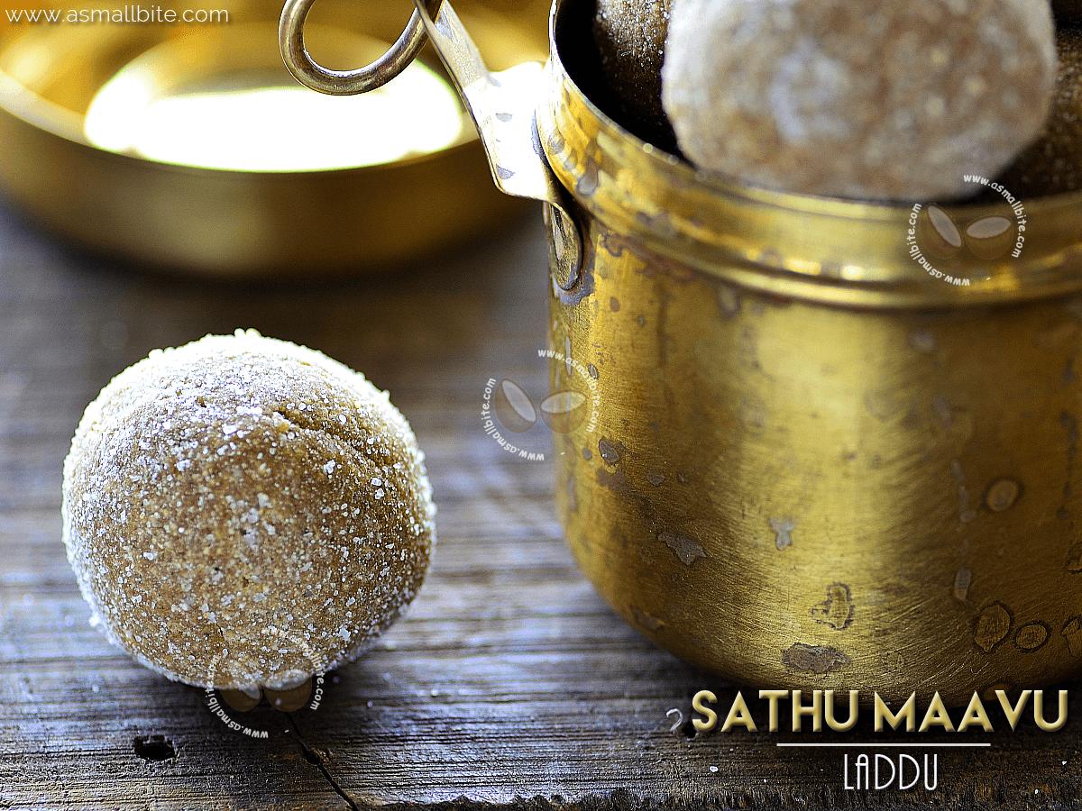 Sathu Maavu Laddu Recipe
