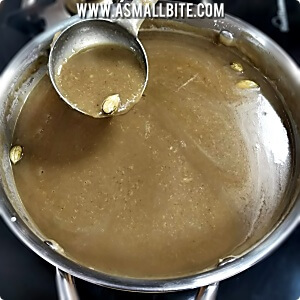 Coconut milk payasam with jaggery