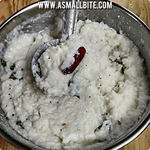 Daddojanam with sour cream