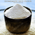 Homemade Rice Flour Recipe | How to make Rice Flour at home