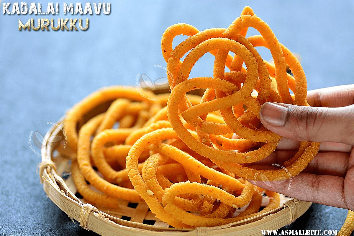 Kadalai Maavu Murukku Recipe