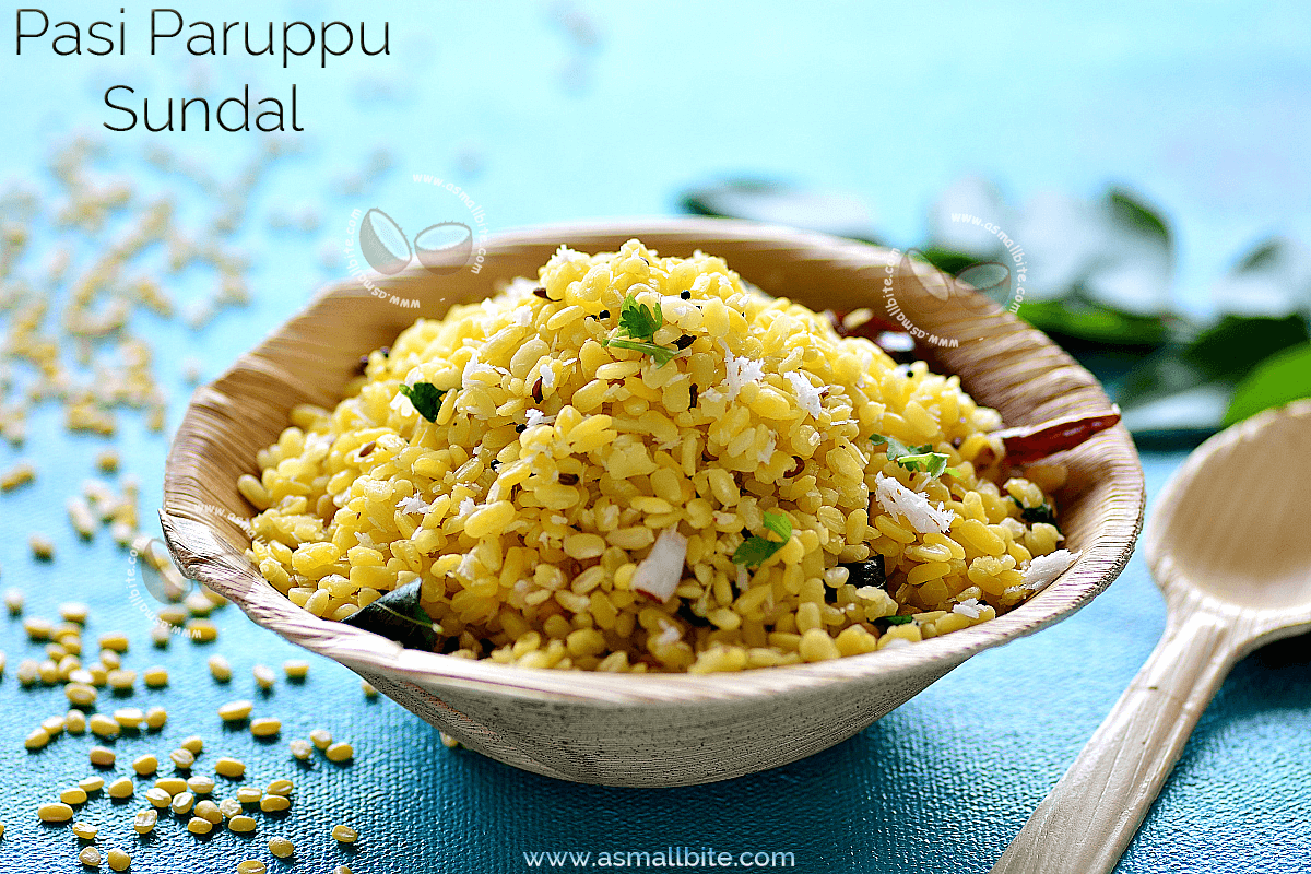 Pasi Paruppu Sundal Recipe