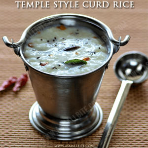 Temple Style Curd Rice Recipe