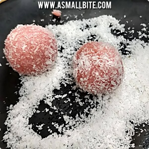 How to make Rose Coconut Ladoo