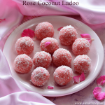 Rose Coconut Ladoo Recipe | Rose Coconut Laddu
