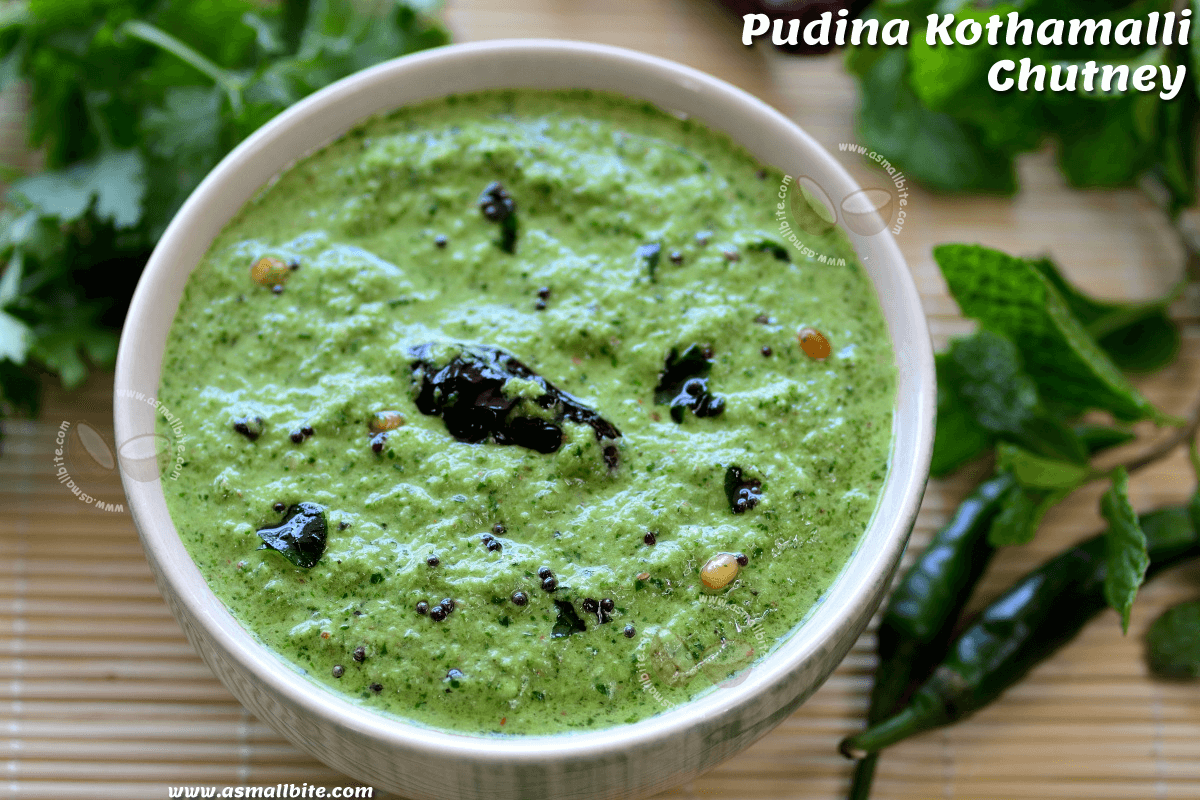 Pudina Kothamalli Chutney Recipe