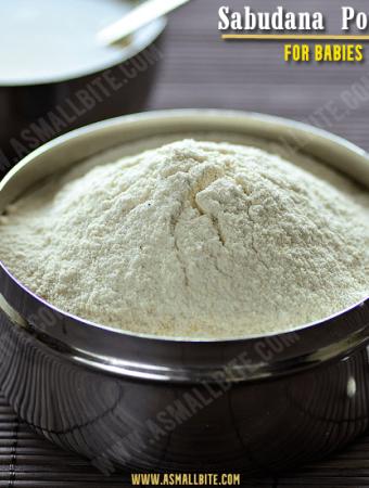 Sabudana Powder For Babies